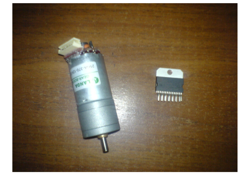 DC motor and L298 driver