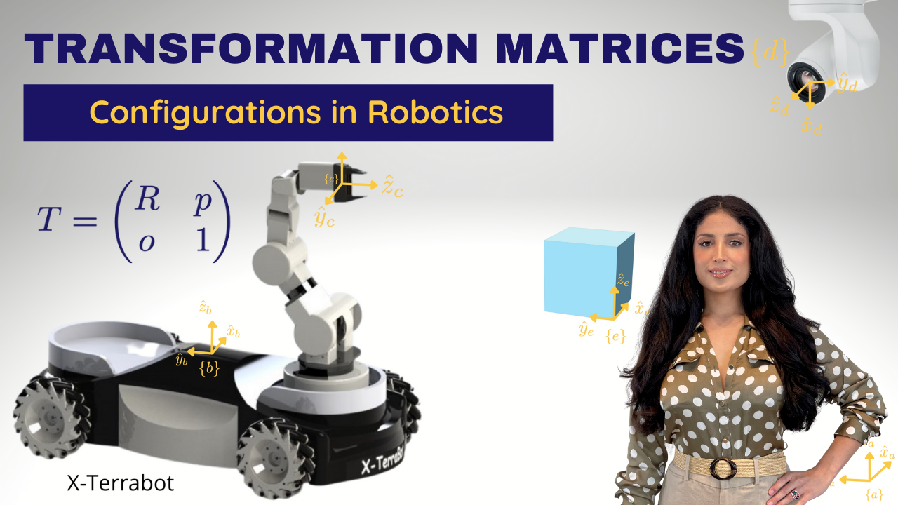 Homogeneous Transformation Matrices to Express Configurations in Robotics