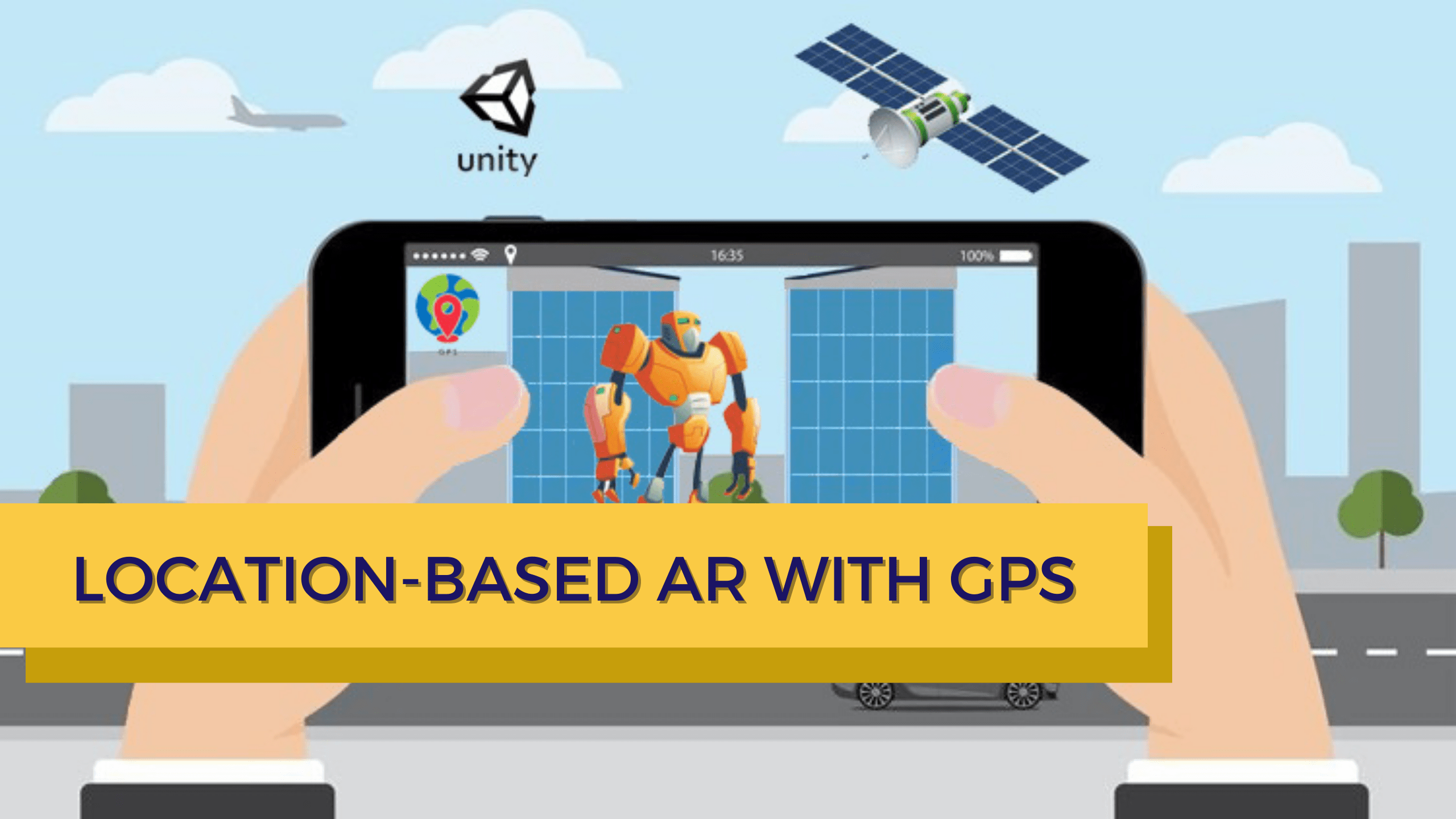 Location-based Augmented Reality (AR) Using GPS